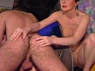 Threesome With Two Mature Pierced Pussies