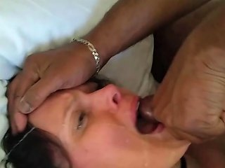 Wife Wiping Cum Into Her Mouth With Her Wedding Band