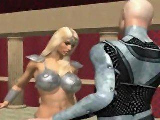 Muscular 3d Babe Sucking