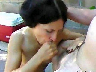 Lena Sucks Cock