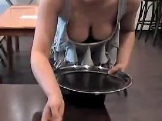 Busty Waitress Public Gropping Free Public Xxx Porn Video