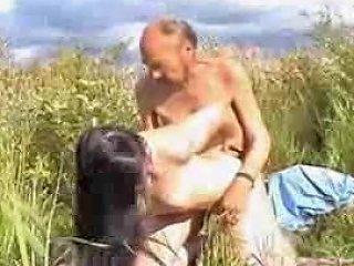 Russian Teen Fucks Homeless Oldman Outdoors Free Porn D5