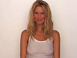 Claudia Schiffer Showing Nipples In A See Through Shirt