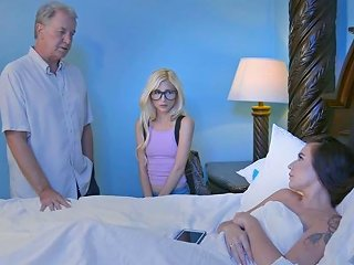 Brazzers Hot And Mean Stepsisters Share A Bed Scene