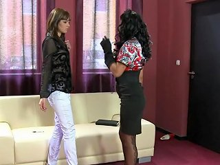 Sexy Satin Lesbians In Shoe Store Free Porn Ed Xhamster