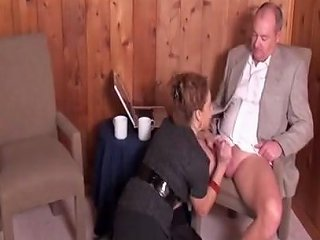 Milf Stacie In Stockings Fucked By Two Men