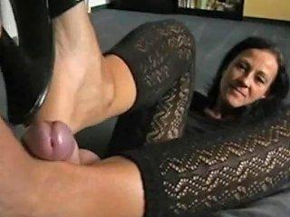 Best German Milf Giving Shoejob Footjob Porn Ee Xhamster