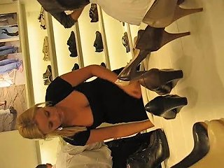 Nice Downblouse Cleavage At Shoe Store Porn 8b Xhamster