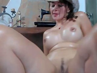 Webcam Busty Girl With Swollen Big Tits Toying Pussy