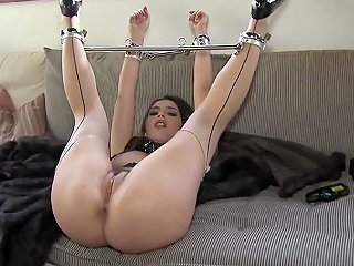 Valentina Nappis Master Has Placed A Bar Between Her Ankles Since This Naughty
