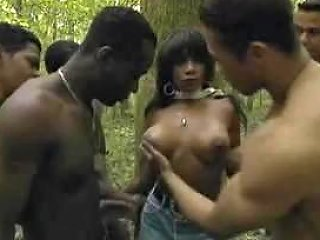 Black Girl Gang Banged In The Jungle