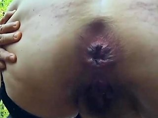 Mature Hairy Chubby Plays Herself And Pees In Forest