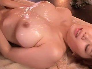Slick Sexual Organ Amp Big Tits Lotion At The Massage Parlor Honami Uehara