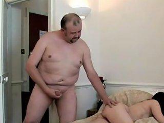 Creepy Daddy Wanks Over A Teen