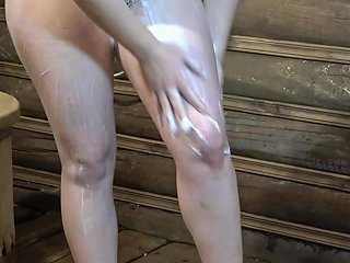 Anal With A Bottle In The Russian Bath