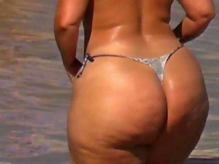 Freaks Extreme Big Phat Ass Booty Topless Sunbathing