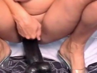 Check My Milf With Huge Black Dildo Stretching Pussy