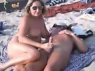 Nude Beach Public Handjobs With Pierced Nipples Porn E6