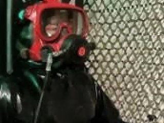 Diver In Exo26 Full Face Mask Tied On My Bondage Chair
