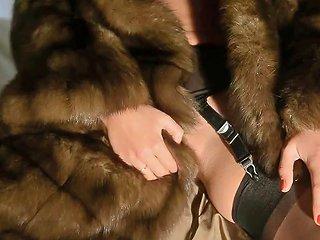 Masturbation In Zibeline Fur Coat Vintage Cervin
