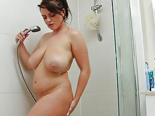 Curvy Young Slut Soaps Up Her Booty In The Shower Porn 0a