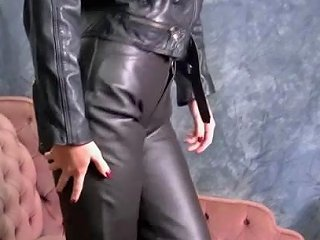 Hot Babes In Leather Put On Tight Pants And Sexy Boots