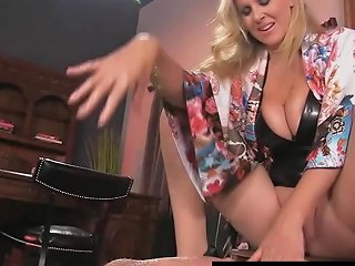 Boy Toy Gets Smothered By Glamorous Milf Julia Ann's