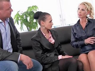 Elegant Business Lady Get Pissed On For The Business