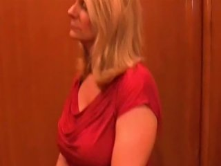 Blond Milf With Big Tits Gets A Creampie At Job