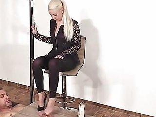 German Shoejob Heeljob Footjob Black Heels Free Porn F9