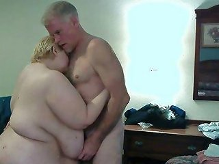 Saggy Huge Titties Getting Slapped My Cock While