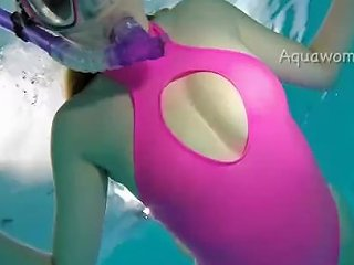 Snorkel In Pink Swimsuit