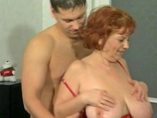 Big Tit Granny Mathilda Gets Her Furry Thatch Pounded
