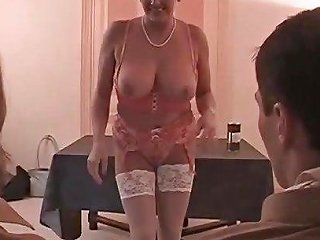 Huguette Busty French Mature Beauty Seduces 2