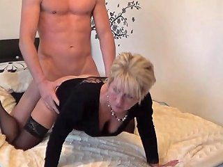 German Blonde Granny With Foot Fetish Gets Fucked By Stepson And Cum In Mouth Porn Videos