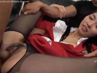 Japanese Model Mary Jane Lee Gangbanged Creampie