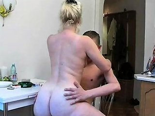 Sexy Mom 63 Blonde Hairy Mature With A Young Man