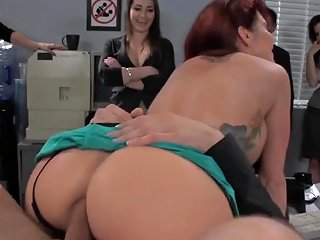 Busty Redhead Woman Gets Her Anal Fucked In The Office Txxx Com