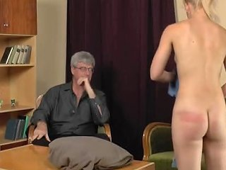 Kinky Guy Punishes A Blonde Sweetie By Spanking Her Firm Ass Any Porn