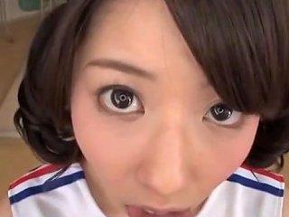 Ran Usagi Sexy Asian Cheerleader In Cosplay Jerk Off Session