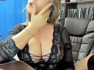Big Tits Blonde Secretary Smoke Fetish