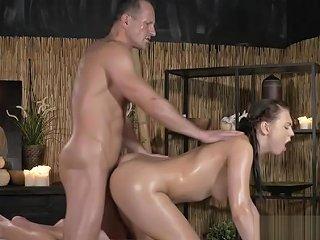 Euro Brunette Babe Got Massage And Fuck Txxx Com
