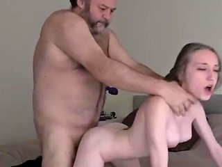 Skinny Teen Paying For Rent Her Ugly Owner Of An Apartment