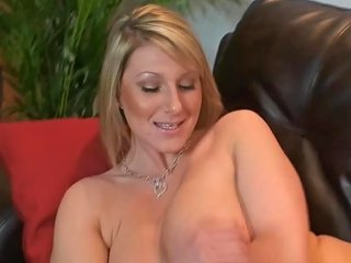 Busty Milf Encourages You To Wank Over Her Tits