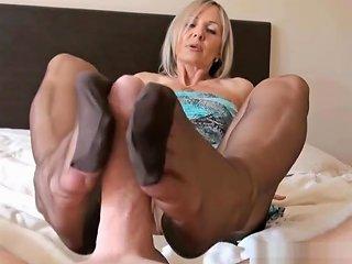 Ala Gives Nylon Foot Job And Hand Job To Slave Denies Him Orgasm Hdzog Free Xxx Hd High Quality Sex Tube