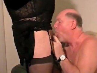 Old Man With Crossdressers Daddy Drink Piss And Cum