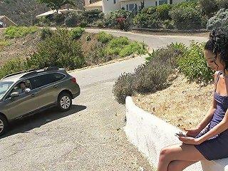 Small Tittied Ebony Teen Jada Doll Gives A Blowjob And Gets Fucked Outdoor