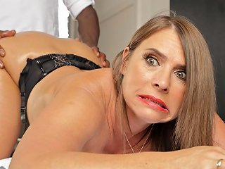 Horny MILF With Huge Tits Calls In For Anal Massages
