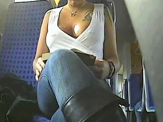 Braless Beauty Rides The Bus And Flashes Her Boobs Porn 67