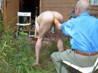 He Fists His Ass Outdoors